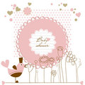 Baby girl shower Royalty Free Stock Photography