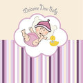 Baby girl shower card illustration in format Royalty Free Stock Images