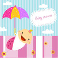 Baby girl shower illustration of Stock Images