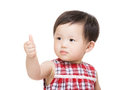 Baby girl thumb up Royalty Free Stock Image