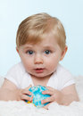 Baby with globe. Royalty Free Stock Photo