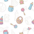 Baby graphic color seamless pattern sketch illustration
