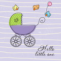 Baby greeting card Royalty Free Stock Photography