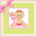 Baby greetings card Royalty Free Stock Image