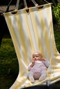 Baby in hammock Royalty Free Stock Image