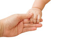 Baby hand holding mother hand together Royalty Free Stock Photography