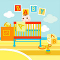Baby in his cute room Royalty Free Stock Images