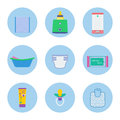 Baby hygiene vector objects