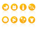 Baby icon set Royalty Free Stock Photography