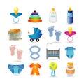 Baby icon set Royalty Free Stock Photo