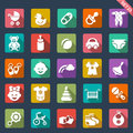 Baby icon set of icons Royalty Free Stock Images
