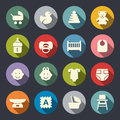 Baby icon set. Vector illustration Royalty Free Stock Photo