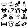 Baby icons this is file of eps format Royalty Free Stock Photography