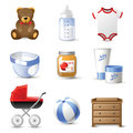 Baby icons highly detailed Royalty Free Stock Photography