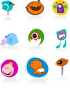 Baby icons and logos Royalty Free Stock Images