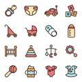 Baby Icons Minimalistic Flat Line Icon