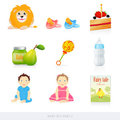 Baby icons. Part 2 Stock Images