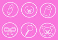 Baby Icons_Pink Royalty Free Stock Photos
