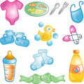 Baby icons set Stock Photo