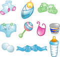 Baby icons set Royalty Free Stock Photos