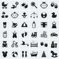 Baby Icons Set. Vector Illustr...
