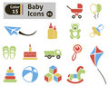 Baby icons vector set for you design Royalty Free Stock Photo