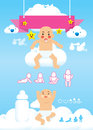 Baby infographic  Royalty Free Stock Image
