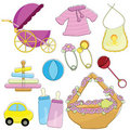 Baby items Royalty Free Stock Photography