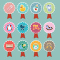 Baby items icons a vector illustration of icon designs Stock Photography