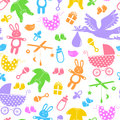 Baby items pattern seamless with Royalty Free Stock Images