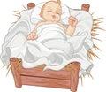 Baby Jesus Asleep Royalty Free Stock Photo