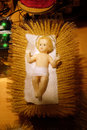 A baby Jesus figure on Christmas Royalty Free Stock Photo