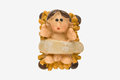 Baby jesus figurine model with clipping path Royalty Free Stock Image