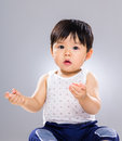 Baby kid with funny pose Royalty Free Stock Photo