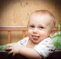 Baby laughs Stock Images
