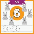 Baby learning cards, numbers with animals_6