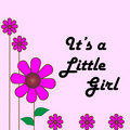 Baby little girl card Royalty Free Stock Photo