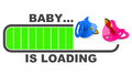 Baby is loading d generated picture about topic Royalty Free Stock Photos
