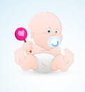 Baby with Lollipop Royalty Free Stock Photos