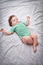 Baby looking up Royalty Free Stock Photos