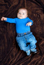 Baby Loves his Blue Jeans Royalty Free Stock Images