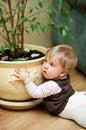 Baby mess at home Royalty Free Stock Photos