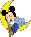 Baby Mickey Mouse Disney Vector Royalty Free Stock Photo