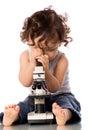 Dieťa mikroskop