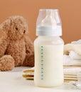 Baby milk bottle Royalty Free Stock Photo