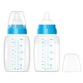 Baby milk bottles full and empty vector illustration eps Stock Image