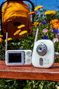 A baby monitor digital for security of the Stock Photos