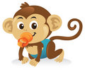 Baby Monkey With Pacifier Royalty Free Stock Photo