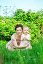 Baby and mother in  park Royalty Free Stock Image