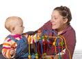Baby with motor activity development delay Royalty Free Stock Photo